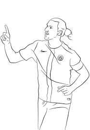 zlatan ibrahimovic manchester united player coloring page sports