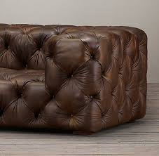 tufted leather daybed