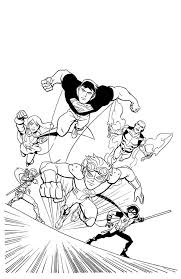 young justice league in action coloring page netart