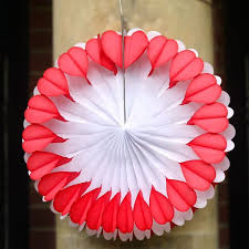 paper decorations large heart paper fan decoration pipii