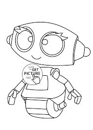 robot cartoon coloring pages for kids printable free