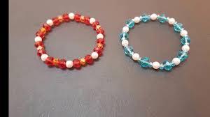 diy how to make beaded elastic bracelet youtube