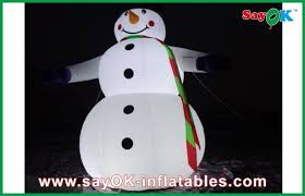Outdoor Inflatables Outdoor 5m Lighting Snowman Decoration