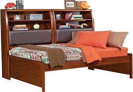 Daybed With Bookcase Santa Cruz Cherry 5 Pc Full Bookcase Daybed