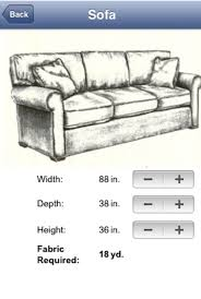 How To Calculate Yardage For Upholstery Fabric Calc App Review Upholstery App And Tired