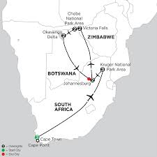 Victoria Falls Map Travel To Victoria Falls With Monograms