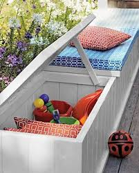 Diy Outdoor Storage Bench Seat by 24 Practical Diy Storage Solutions For Your Garden And Yard