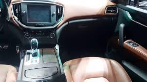 maserati jeep interior 2016 maserati ghibli s q4 interior 2016 chicago auto show youtube