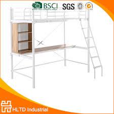 bureau superposé étudiant superposés lit avec table de travail métal lit superposé
