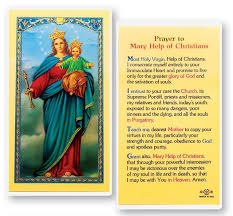prayer cards help of christians laminated prayer cards 25 pack from