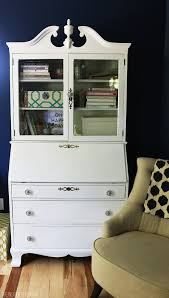 flea market find secretary and hutch the inspired room