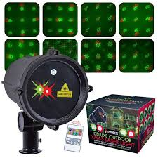 moving christmas outdoor laser lights with timer buy online at