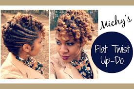 flat twist updo hairstyles pictures flat twist updo requested naturally michy youtube