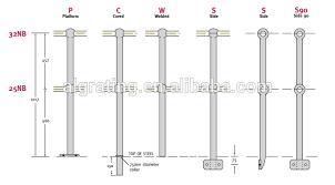 Tubular Handrail Standards Tubular Handrail Stanchions Buy Tubular Handrail Stanchions Ball