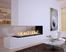 Fireplace In Middle Of Room Modern Corner Gas Linear Contemporary U0026 Linear Gas Fireplace In Us