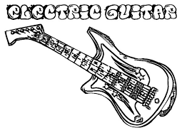 electric guitar instruments colouring colouring tube