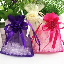 small organza bags aliexpress buy 9x12cm 100pcs flower drawable ivory small