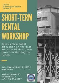 city of huntington beach ca news short term rental workshop