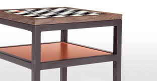 contrast chess walnut side table made com