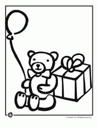 coloring pages for birthdays printables teddy bear birthday coloring pages animal jr