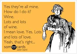 Motherhood Memes - fourteen memes about motherhood and wine and some musing about why