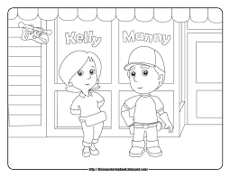 handy manny coloring pages handy manny tools coloring pages for