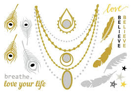 hipster jewelry temporary tattoos blog