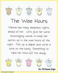 the wee hours baby shower game sign baby shower printables