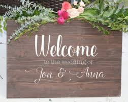 personalized wooden wedding signs wood wedding signs etsy
