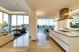 modern open kitchen concept alluring large open kitchen features rectangle shape dark brown