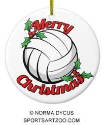 volleyball pewter christmas ornament volleyball christmas