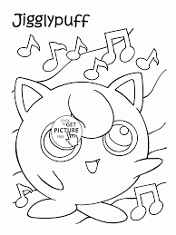 pokemon jigglypuff coloring pages for kids pokemon characters
