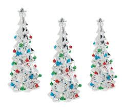 set of 3 ceramic trees with bells by valerie page 1 qvc