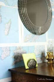 remodelaholic renter friendly diy map wall treatment