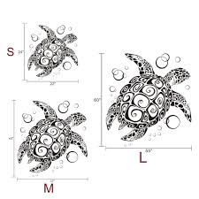 Tortoise Home Decor Sea Turtle With Bubbles Uber Decals Home Decoration Tortoise Wall