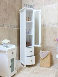 White Tall Bathroom Cabinet by Tall Solid Wood Bathroom Cabinet Made From Ash And Painted White