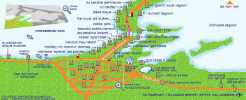 Cancun Map Map Cancun Area Holidaymapq Com