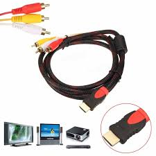 rca dvd home theater system with hdmi 1080p output 1 5m 5ft hdmi male to 3 rca video audio av cable cord adapter for