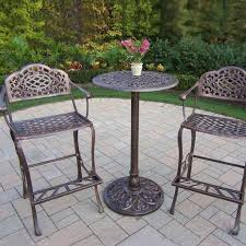 Patio Table Height by 3 Piece Outdoor Bar Height Bistro Set Olzg Cnxconsortium Org