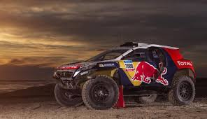 2008 peugeot cars peugeot 2008 dkr shows red bull livery ahead of dakar 2015 debut