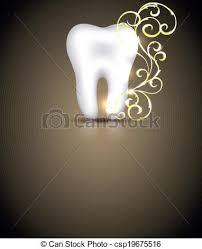 dental design vector clip of dental design with golden swirls