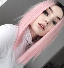28 pink hair ideas you need to see dark roots straight hair and