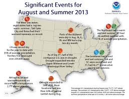 Orlando Weather Map by National Climate Report August 2013 State Of The Climate