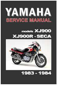 yamaha workshop manual xj900 xj900r xj900p seca 1983 u0026 1984