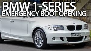 bmw electric 1 series how to open bmw 1 series boot without electric power e81 e82 e87