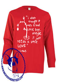 linus christmas tree linus christmas tree custom shirt for kids 3 4 sleeve or