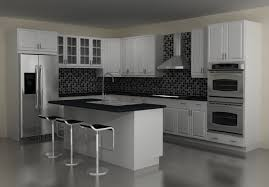 terrific modern kitchen with l shape kitchen island also dark