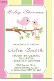 bird baby shower cu735 bird baby shower invitation baby shower