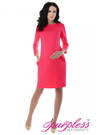 casual dress with pockets 6107 raspberry