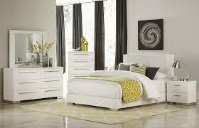 bedroom sets chicago modern white finish bed
